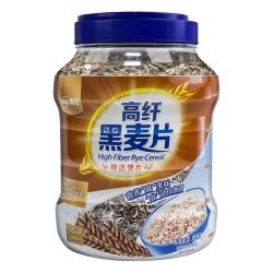 【0蔗糖】嘉谷 低脂高纤黑麦片罐装1kg