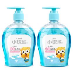 【含韩国抗污染专利材料】小浣熊 儿童抑菌洗手液300ml*2瓶