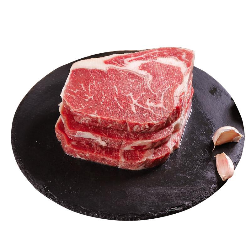 【拍2件】5仓发货:芝巢 原肉整切牛排10片共1000g+送黑胡椒酱10包