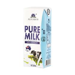 【澳洲原装进口】100%生牛乳:澳格堡  全脂纯牛奶200ml*24盒