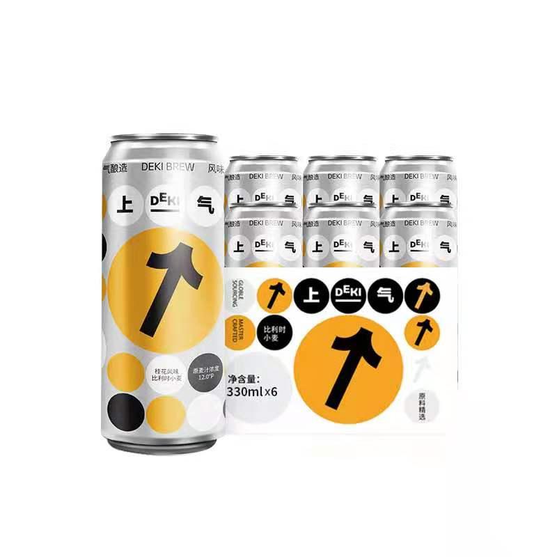 【纯麦芽酿造】原麦汁≥12°P:上气 桂花风味轻精酿啤酒330ml*3罐